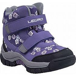 Lewro CUPER fialová 30 - Detská zimná obuv