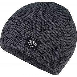 Lewro ELEUTERIO šedá 8-11 - Chlapčenská pletená čiapka