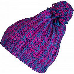 Lewro HANKA ružová 8-11 - Dievčenská pletená čiapka