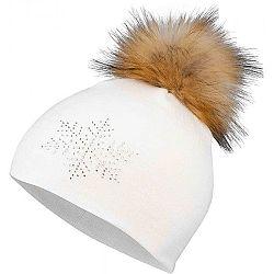 Lewro MARELA biela 12-15 - Dievčenská pletená čiapka