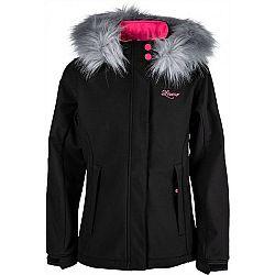 Lewro NAIA čierna 128-134 - Dievčenská softshellová bunda