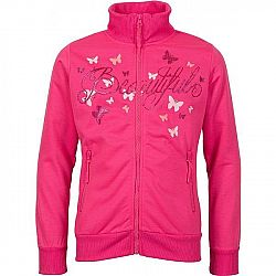 Lewro NOVELLA ružová 128-134 - Dievčenská mikina