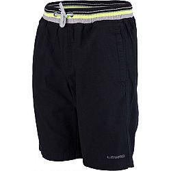 Lewro OSVALD čierna 140-146 - Chlapčenské  plátené šortky