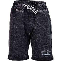 Lewro RAYEN modrá 116-122 - Detské šortky s džínsovým vzhľadom