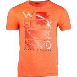 Lotto L73 V TEE BEACH PRT 1 PL oranžová S - Pánske tričko