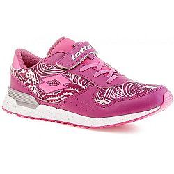 Lotto RECORD VIII LEAF CL SL ružová 27 - Dievčenská voľnočsová obuv
