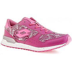 Lotto RECORD VIII LEAF JR L ružová 36 - Dievčenská voľnočasová obuv