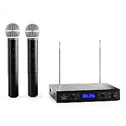 Malone VHF-400 Duo 1, 2-kanálová sada VHF bezdrôtových mikrofónov, 1 x prijímač, 2 x ručný mikrofón
