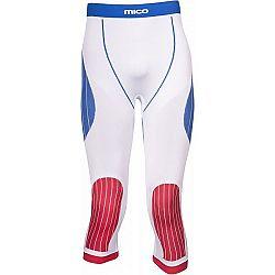 Mico 3/4 TIGHT PANTS OFFICIAL CZE biela 2 - Spodné 3/4 nohavice Official CZE