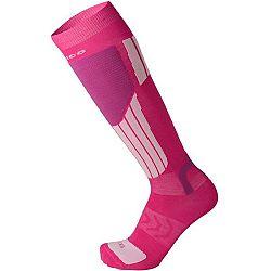 Mico LIGHT WEIGHT NATURAL MERINO SKI SOCKS ružová M - Lyžiarske podkolienky