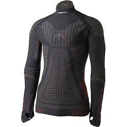 Mico LONG SLEEVES MOCK NECK SHIRT M1 čierna L-XL - Pánske lyžiarske spodné prádlo z radu  M1 Performance