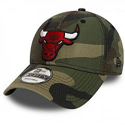 New Era 80580940 NE 9FORTY NBA CAMO CHICAGO BULLS tmavo zelená UNI - Klubová šiltovka