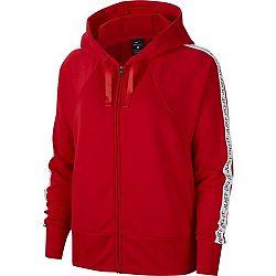 Nike DRY FLC GET FIT HD FZ JDI červená XS - Dámska mikina