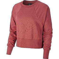 Nike DRY FLC GET FIT LUX CRW W oranžová XS - Dámsky tréningový top