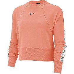 Nike DRY GET FIT FLC CRW JDI T oranžová L - Dámska mikina