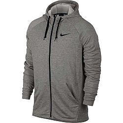 Nike DRY HOODIE FZ FLEECE šedá S - Pánska mikina