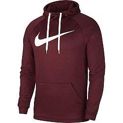 Nike DRY HOODIE PO SWOOSH M vínová L - Pánska mikina