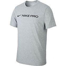 Nike DRY TEE NIKE PRO M šedá 2XL - Pánske tričko