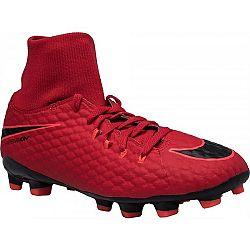 Nike HYPERVENOM PHELON III JR DF FG červená 4.5Y - Detské kopačky