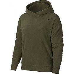 Nike NK THRMA HOODIE POLAR tmavo zelená M - Dámska športová mikina