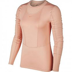 Nike NP LS WARM HOLLYWOOD TOP W oranžová M - Dámske tričko s dlhými rukávmi