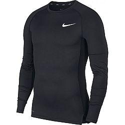 Nike NP TOP LS TIGHT M čierna L - Pánske tričko s dlhým rukávom