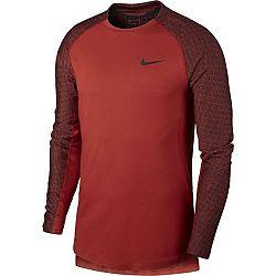 Nike NP TOP LS UTILITY THRMA M červená L - Pánske tričko s dlhým rukávom