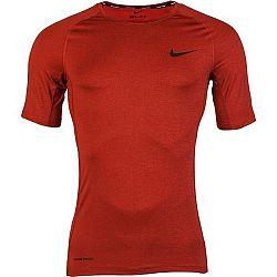 Nike NP TOP SS TIGHT M vínová L - Pánske tričko