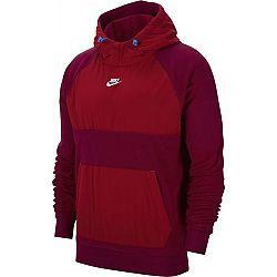Nike NSW CE HOODIE PO WINTER M vínová XL - Pánska mikina