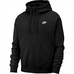 Nike NSW CLUB HOODIE FZ BB čierna M - Pánska mikina