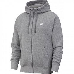 Nike NSW CLUB HOODIE FZ BB M šedá M - Pánska mikina