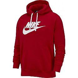 Nike NSW CLUB HOODIE PO BB GX M červená M - Pánska mikina