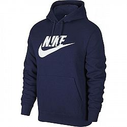 Nike NSW CLUB HOODIE PO BB GX M tmavo modrá M - Pánska mikina