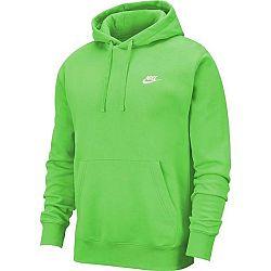 Nike NSW CLUB HOODIE PO BB zelená XL - Pánska mikina
