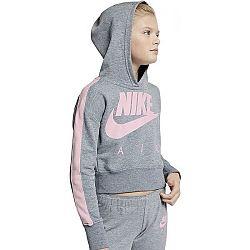 Nike NSW CROP PE AIR šedá S - Dámska mikina s kapucňou