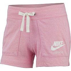 Nike NSW GYM VNTG SHORT svetlo ružová S - Dámske šortky