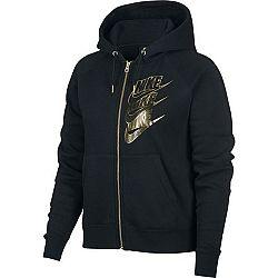 Nike NSW HOODIE FZ BB SHINE W čierna M - Dámska mikina