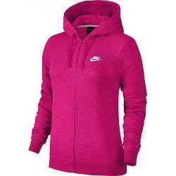 Nike NSW HOODIE FZ FLC ružová XL - Dámska mikina