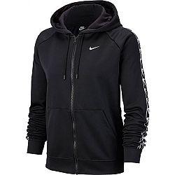 Nike NSW HOODIE FZ LOGO TAPE čierna L - Dámska mikina