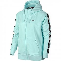 Nike NSW HOODIE FZ LOGO TAPE svetlo zelená M - Dámska mikina