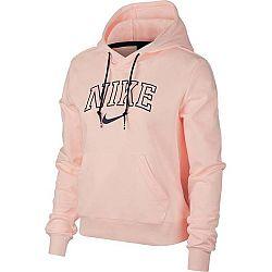 Nike NSW HOODIE VRSTY svetlo ružová L - Dámska mikina