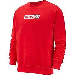 Nike NSW JDI CRW FLC BSTR červená XL - Pánska mikina