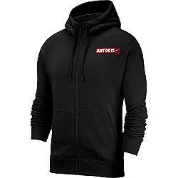 Nike NSW JDI HOODIE FZ FLC BSTR čierna M - Pánska mikina
