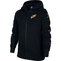 Nike NSW NIKE AIR FLC FZ čierna S - Dievčenská mikina