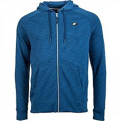 Nike NSW OPTIC HOODIE FZ tmavo modrá L - Pánska mikina