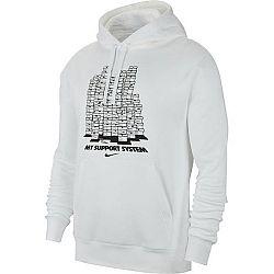 Nike NSW PO HOODIE FLC FW CLTR 8 biela S - Pánska mikina
