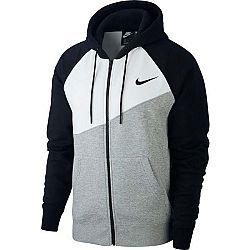 Nike NSW SWOOSH HOODIE FZ BB čierna 2XL - Pánska mikina