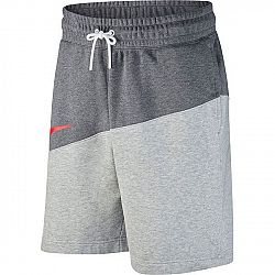 Nike NSW SWOOSH SHORT FT tmavo sivá S - Pánske šortky