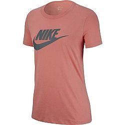 Nike NSW TEE ESSNTL ICON FUTURA oranžová S - Dámske tričko
