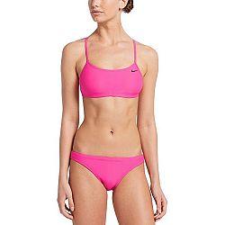 Nike SOLID ružová S - Dámske dvojdielne plavky